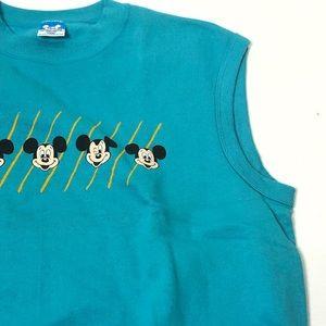 Disney Jackets & Coats - Vintage Disney Size Large Mickey Mouse Vest Top